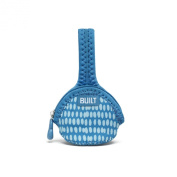 Built Paci-Finder Single Pacifier Holder, Dribble Dots Blue