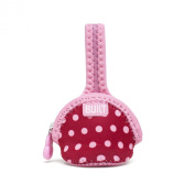Built Paci-Finder Single Pacifier Holder, Baby Pink Mini Dots