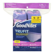 GoodNites TRU-FIT Real Underwear Starter Pack for Girls - L/XL