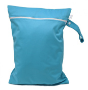 CutieTots Nappy Wet Bag - (Baby Blue) With Free Changing Mat