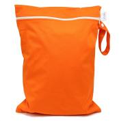 CutieTots Nappy Wet Bag - (Tangerine Orange) With Free Changing Mat