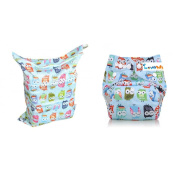 (LOVE MY) Baby One Size Washable Reusable Cloth Nappy & Waterproof Washable Reusable Wet and Dry Cloth Nappy Bag, 2 packs