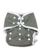 BB2 Baby One Size Solid Happy Leak-free Snaps Cloth Nappy Cover for Prefolds