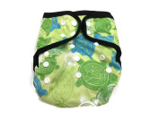 BB2 Baby One Size Printed Black Gussets Snaps Cloth Nappy Cover for Prefolds