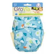 GroVia Cloth Nappy Cover - Snap - Drift - One Size