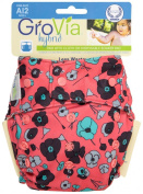 GroVia Single Nappy Shell - Snap Poppy