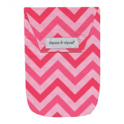 Diapees & Wipees Chevron Pink Baby Nappy and Wipes Bag