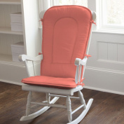 Solid Coral Rocking Chair Pad