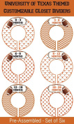 University of Texas Infant Closet Dividers - Texas Longhorn Closet Dividers