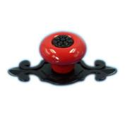 Tangpan (TM) Ceramic Door Knobs Black Zine Alloy Base Handle Colour Red Pack of 8