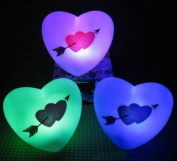 Buytra 1 pc Love Heart Christmas LED Night Light Colour Change [Kitchen]