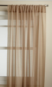 Lorraine Home Fashions Reverie 150cm x 160cm Tailored Panel, Taupe