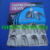 10 Dental Impression Trays Set Perfo Denture Instruments