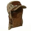 Desert Camo Cap Sun Protection Foreign Legion Flap Hat