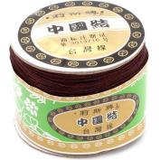 120 Metres Nylon Handcraft Braid Rattail Cord Chinese Knotting Thread Rope Brown