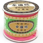 120 Metres Nylon Handcraft Braid Rattail Cord Chinese Knotting Thread Rope Hot Pink