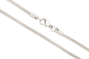 3mm Stainless Stain Lantern Chain Stainless Steel Necklace With Lobster Claw Clasp Sold Per 20Inch
