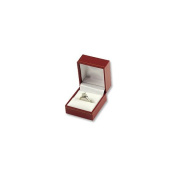 Cartier Style Ring Box Red Leatherette