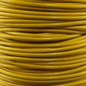 "#22 Yellow Round Leather Cord 1mm (1/32"") x 10 m"