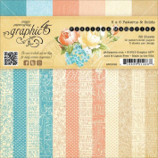 Graphic 45 Precious Memories Patterns and Solids Paper, 15cm by 15cm