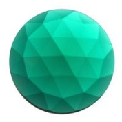 Stained Glass Jewels - 15mm Round Faceted - Teal