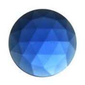 Stained Glass Jewels - 15mm Round Faceted - Dk Blue