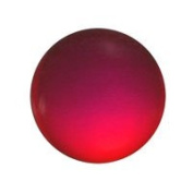 Stained Glass Jewels - 15mm Round Smooth - Red