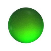 Stained Glass Jewels - 15mm Round Smooth - Green