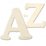 The Crafts Outlet Alphabet Set A to Z Wooden Letters, 1/4 by 10cm by 8.3cm