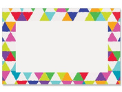 50 pack Bright Mosaic BorderNo Sentiment Enclosure Cards