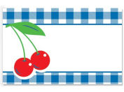 50 pack Cherries & GinghamNo Sentiment Enclosure Cards