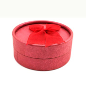 Chic Bowknot Jewellery Necklace Ring Earring Package Box Gift Case Display Holder Red
