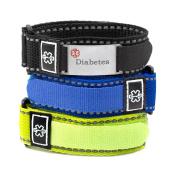Mens Diabetes Sport Straps Pack & ID Tag Fits 5 1/2 - 20cm
