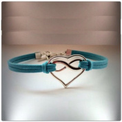 Karma Bracelet, Infinite Love Bracelet, Heart Bracelet, Blue Charms Bracelet