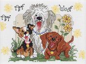 Janlynn 38-0204-Piece Suzy's Zoo Dogs of Duckport Mini Counted Cross Stitch Kit, 18cm by 13cm