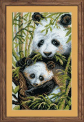 Riolis R1159 Counted Cross Stitch Kit, 22cm by 38cm , Panda with Young