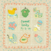 Dimensions Crafts 72-74051 Baby Sampler Embroidery Kit
