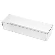 InterDesign Drawer Organiser, 3 by 23cm by 5.1cm , Clear