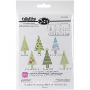 Sizzix Christmas Trees Triplits Dies by Stephanie Barnard, 14-Pack