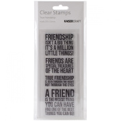 Kaisercraft CS139 Acrylic Rubber Texture Stamp, 5.1cm by 13cm , True Friendship, Clear