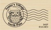 North Pole Postmark Rubber Stamp By DRS Designs