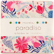 Moda Kate Spain Paradiso Charm Pack, 42 13cm Cotton Fabric Squares