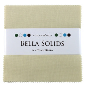 Bella Solids Fig Tree Cream Charm Pack 42 Squares 13cm Moda Fabrics 9900PP 67