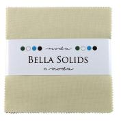 Bella Solids Fig Tree Cream Charm Pack 42 Squares 13cm Moda Fabrics 9900PP 67