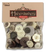 Buttons Galore Haberdashery Hand Dyed Buttons, 100ml, Neutral Colours
