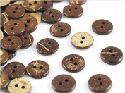 300pcs 2 Holes Coconut Shells 10 Mm Wood Buttons Sewing Craft