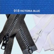 30cm Vislon Zipper ~ YKK #5 Moulded Plastic ~ Separating - 918 Victoria Blue