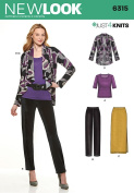 NEW LOOK U06315A Misses' Knit Pants Skirt Top and Jacket Sewing Template