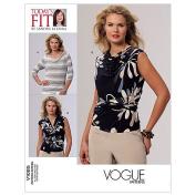 Vogue Patterns V1085 Misses' Top, All Sizes