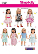 Simplicity Creative Patterns 1484 Doll Clothes, 46cm